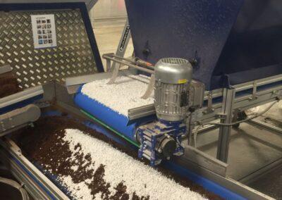Dosering van vermiculiet of perliet